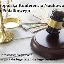 Konferencja Naukowa Prawa Podatkowego UEK pod patronatem MOKIDP, Kraków 18-19.06.2018 r.