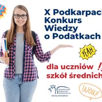 II etap X Podkarpackiego Konkursu Wiedzy o Podatkach - zmiana terminu